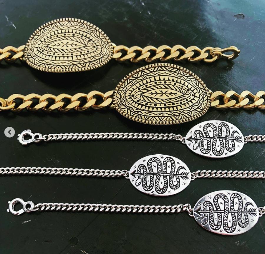 LHN Jewelry(エルエイチエヌ ジュエリー) 米国製 ハンドメイド サーペント & アロー ブレスレット シルバー製 Serpent & Arrow Silver Bracelet