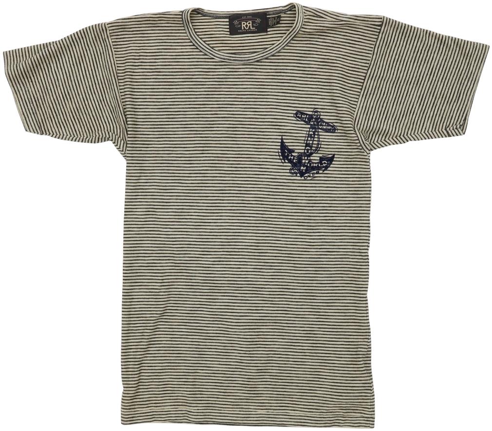 (ダブルアールエル) RRL ストライプ ジャージー グラフィック Tシャツ ボーダー メンズ Striped Jersey Graphic T-shirt