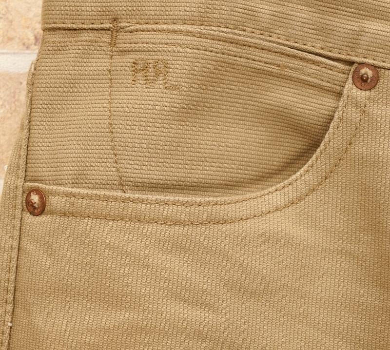 (ダブルアールエル) RRL 日本製コットン地 Rancher コーデュロイパンツ スリムナロー メンズ Cotton Corduroy Pants Slim Narrow Tan