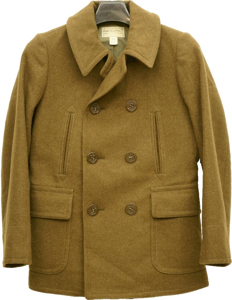 (ダブルアールエル) RRL ウール LEWIS ツイル ピーコート オリーブ メンズ Wool Twill Pea Coat