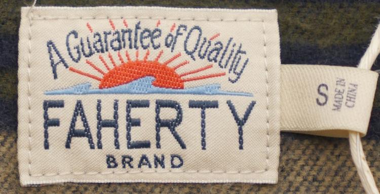 FAHERTY BRAND (ファリティ ブランド) ネイティブ柄 フーディ プルオーバー ポンチョ メンズ Pacific Poncho
