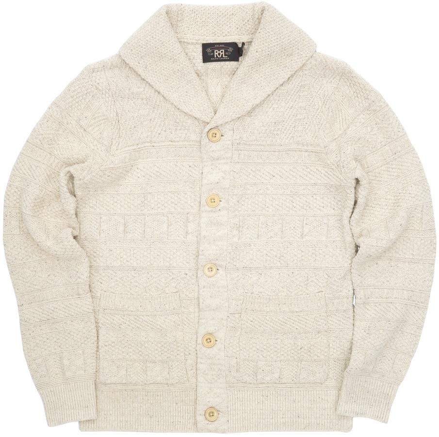 (ダブルアールエル) RRL コットン シルク カーディガン クリーム メンズ Cotton-Silk Cardigan