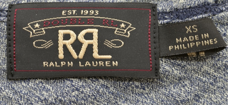 訳あり (ダブルアールエル) RRL コットン グラフィック Tシャツ ブルージャス S Cotton Graphic T