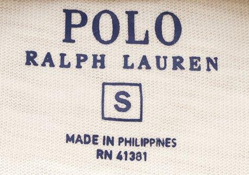 (ラルフローレン) Ralph Lauren ブランド ロゴ & アンカー プリント Tシャツ S ホワイト