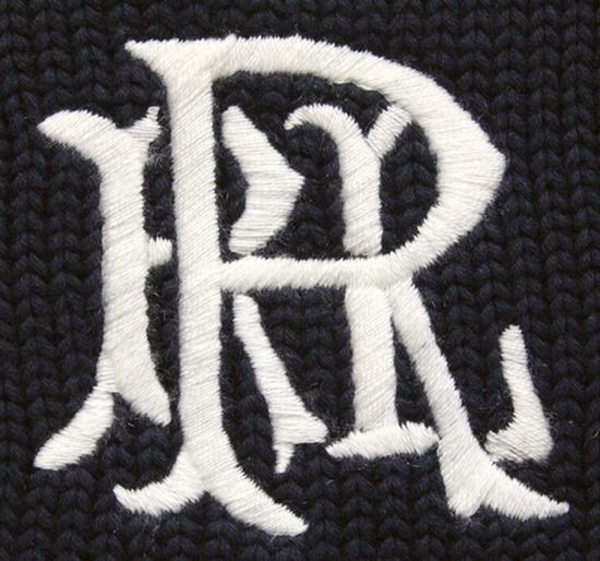 RUGBY / ラルフローレン ラグビー ロゴ刺繍 クルーネック コットン ニット ダークネイビー