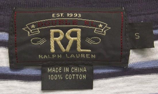 RRL / ダブルアールエル ボーダー Tシャツ ホワイト × ライトブルー × ネイビー