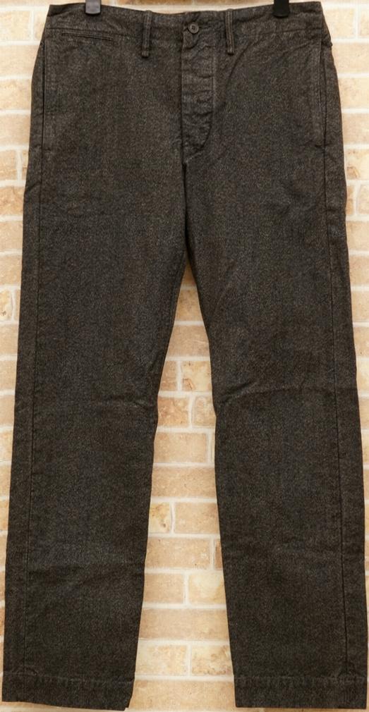 (ダブルアールエル) RRL 日本製コットン ジャスペ パンツ グレー メンズ Cotton Jaspe Pants Gray