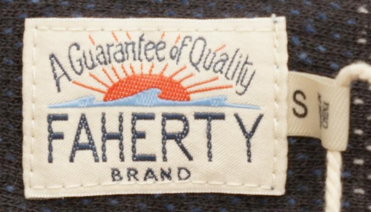 FAHERTY BRAND (ファリティ ブランド) Terry Baja ポンチョ フーディ フレンチテリー グレー x ネイビー メンズ