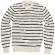 FAHERTY BRAND (ファリティ ブランド) ビーチ ストライプ セーター ホワイト x ブルー Beach Stripe Sweater