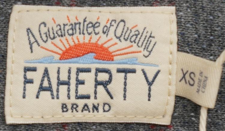 FAHERTY BRAND (ファリティ ブランド) Terry Baja ポンチョ フーディ フレンチテリー セラペ グレー x レッド メンズ