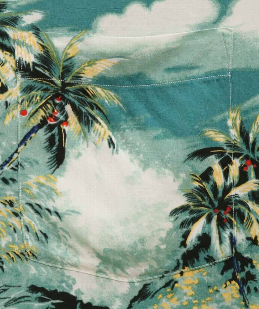 (ラルフローレン) Ralph Lauren ハワイアン アロハシャツ ターコイズ メンズ Hawaiian Shirt