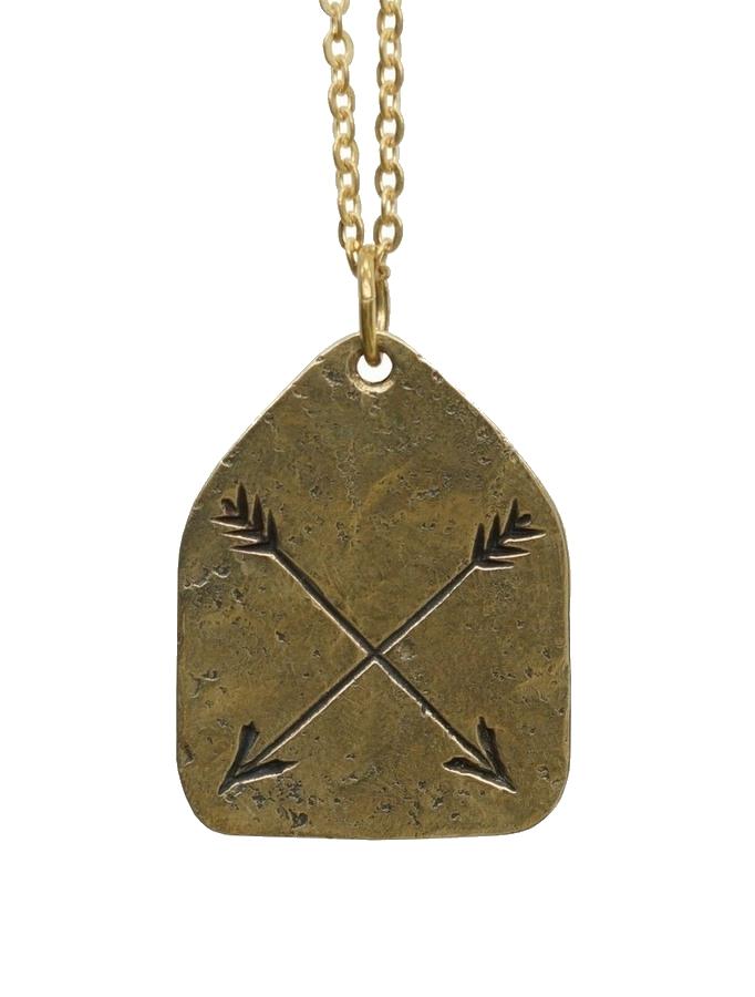 LHN Jewelry(エルエイチエヌ ジュエリー) 米国製 ハンドメイド アロー ネックレス 真鍮 Arrow Charm Necklace Brass
