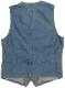 (ダブルアールエル) RRL インディゴ ストライプ ド コットン ベスト 本藍染め メンズ Indigo Striped Cotton Vest