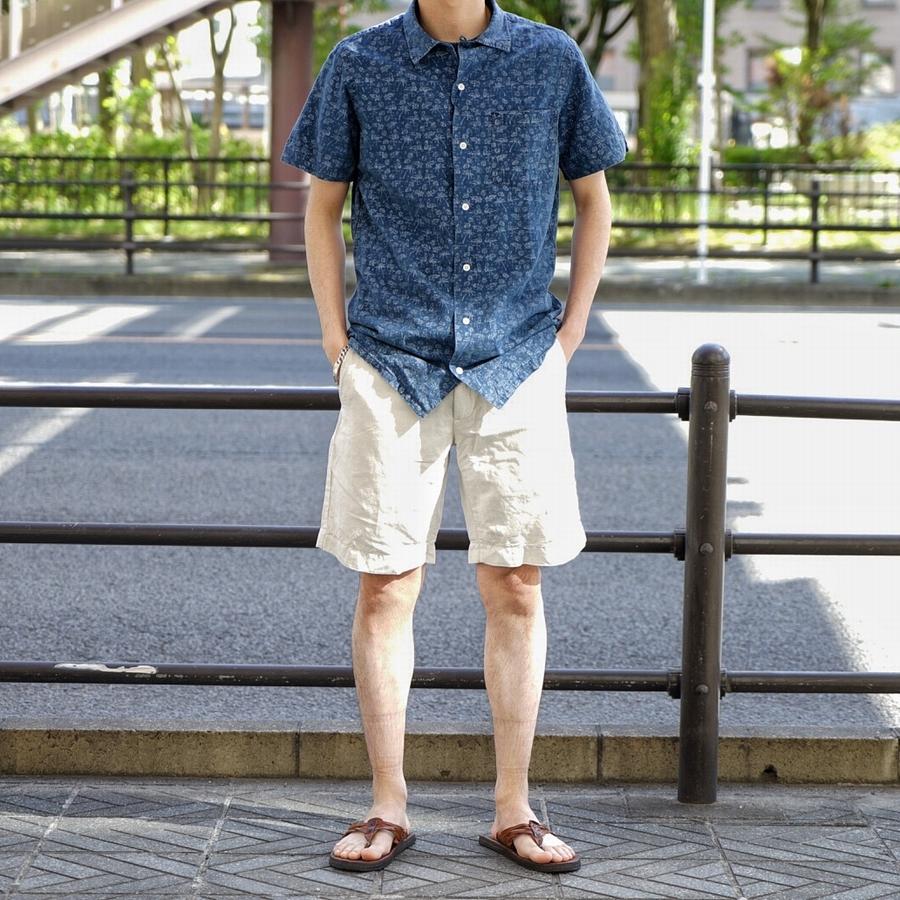 (ラルフローレン) Ralph Lauren トロピカルプリント リネン 半袖 シャツ 麻 メンズ
