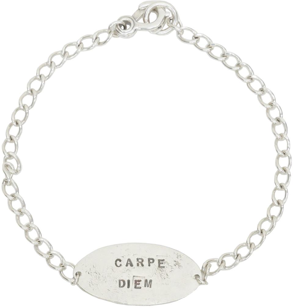 LHN Jewelry(エルエイチエヌ ジュエリー) アメリカ製 シルバー カルペディエム ID ブレスレット