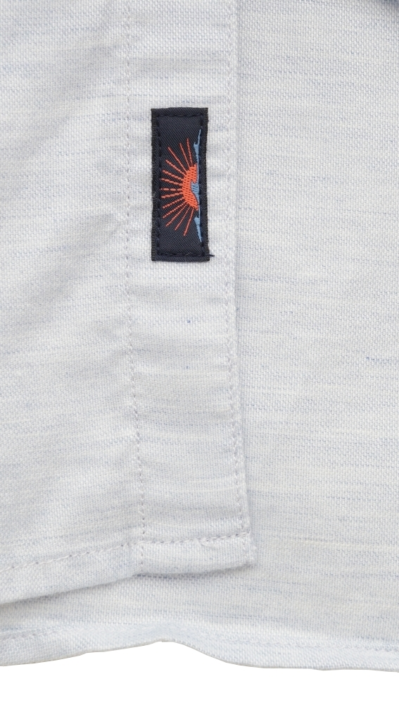 FAHERTY BRAND (ファリティ ブランド) オックスフォード ボタンダウン 半袖シャツ 霜降り ブルー ストレッチ メンズ Stretch Oxford Shirt Heather Blue