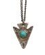 【 一点物 希少 】 ヴィンテージ ナバホ ターコイズ アロー ネックレス アンティーク メンズ Vintage Navajo Arrow Necklace