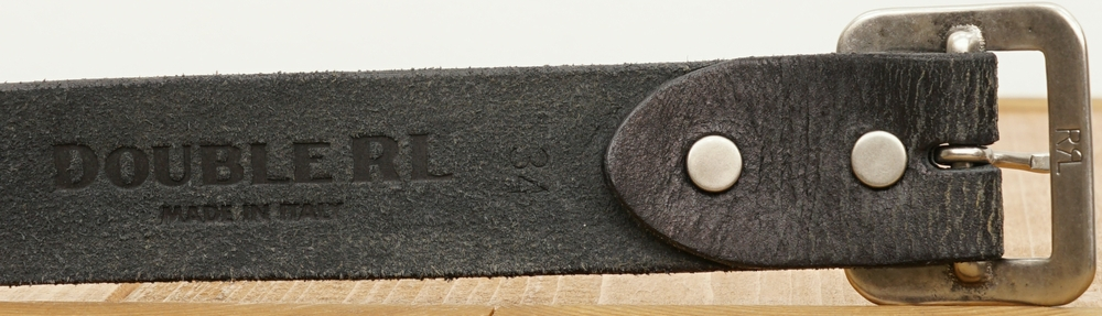 (ダブルアールエル) RRL バーリントン レザー ベルト ブラック イタリア製 18年モデル メンズ Burlington Belt Black