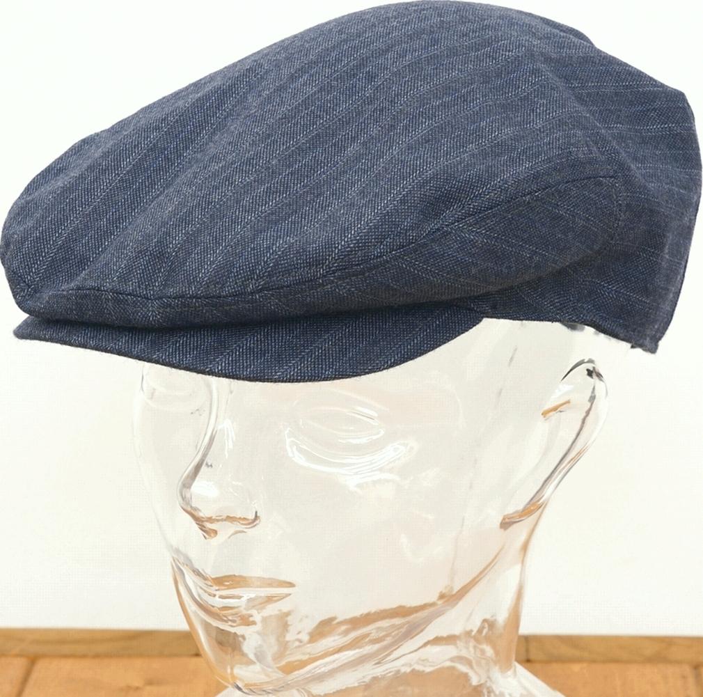 (ダブルアールエル) RRL イタリアンウール ハンチング インディゴ メンズ Stretch Wool Driving Cap