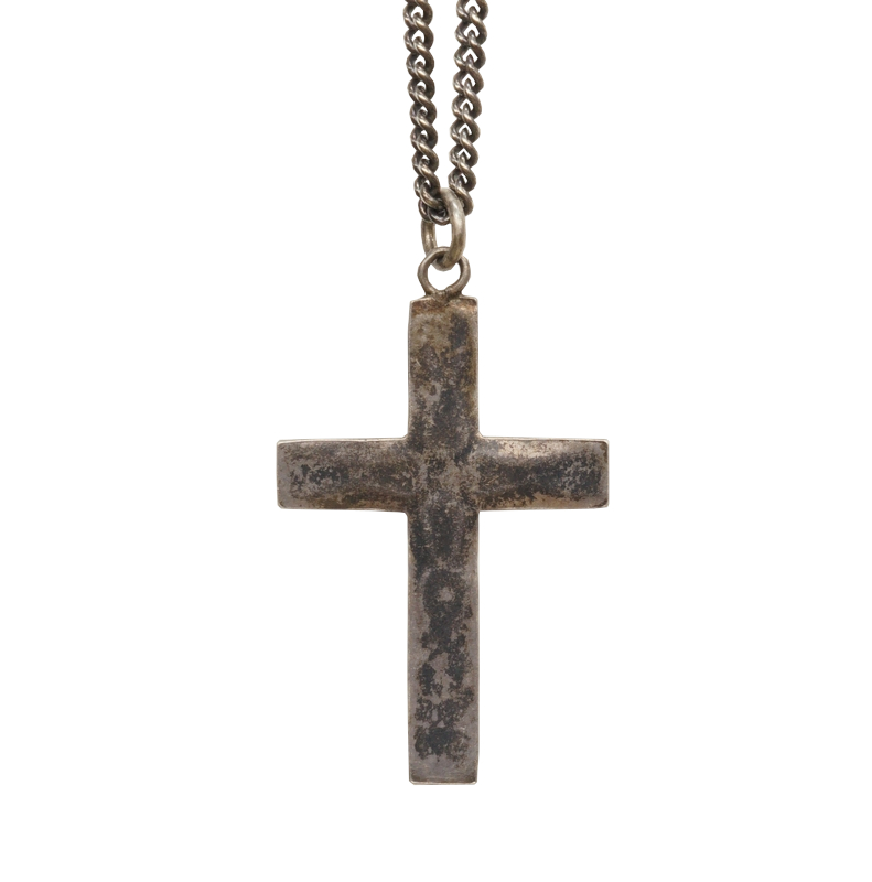 【 一点物 希少 】 ヴィンテージ ナバホ ターコイズ クロス ネックレス アンティーク メンズ Vintage Navajo Cross Necklace