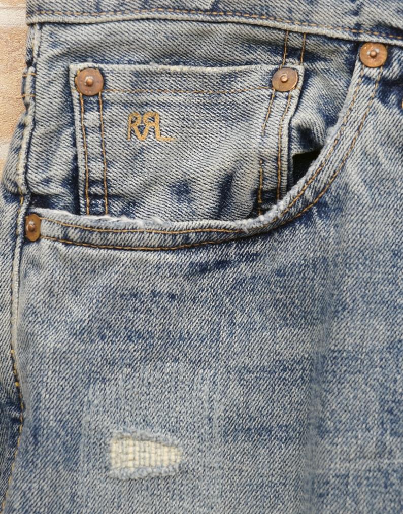(ダブルアールエル) RRL 米国製 ローストレート Springdale ジーンズ メンズ Low Straight Selvedge Jean