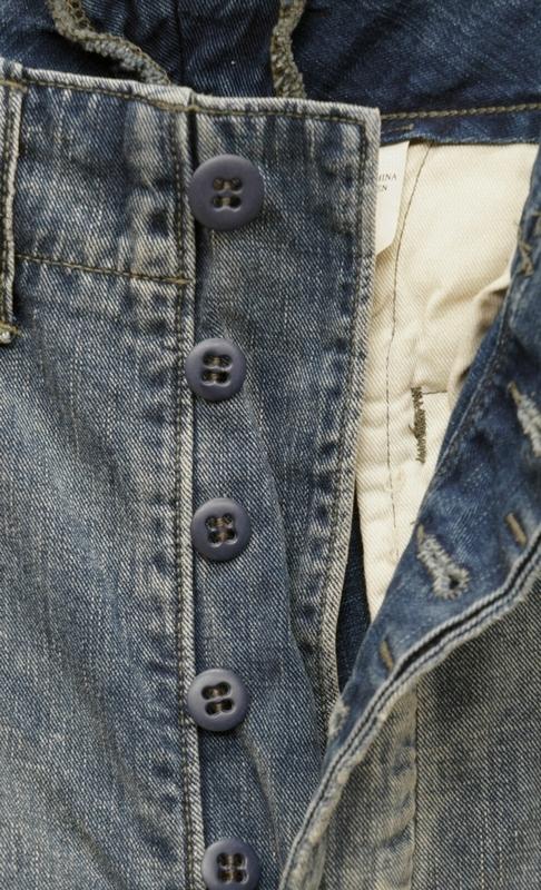 (ダブルアールエル) RRL 日本製生地 リペアード フィールド ジーンズ インディゴ 本藍染め メンズ Repaired Field Jean