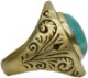 LHN Jewelry(エルエイチエヌ ジュエリー) ハンドメイド Amor Signet リング ブラス x ターコイズ 米国製 メンズ ring