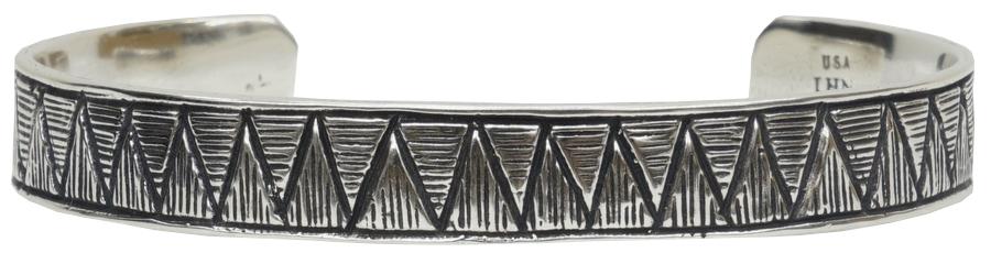 LHN Jewelry(エルエイチエヌ ジュエリー) ハンドメイド Sobek スターリングシルバー製 バングル アメリカ製 銀 Cuff Silver