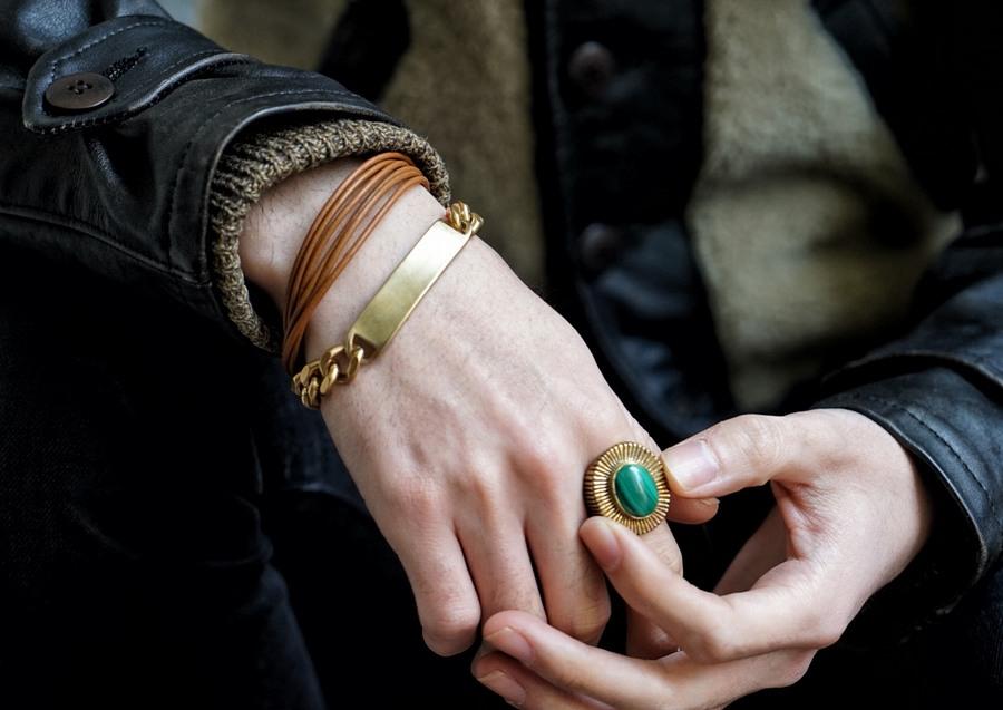 LHN Jewelry(エルエイチエヌ ジュエリー) 米国製 ハンドメイド Byron リング 真鍮 x ラピス メンズ ユニセックス Brass Lapis ring