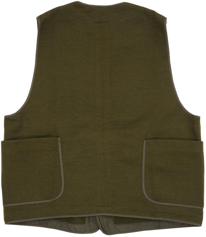 Dehen 1920(デーヘン) ウール ユーティリティ ベスト オリーブ メンズ Knit Utility Vest Olive