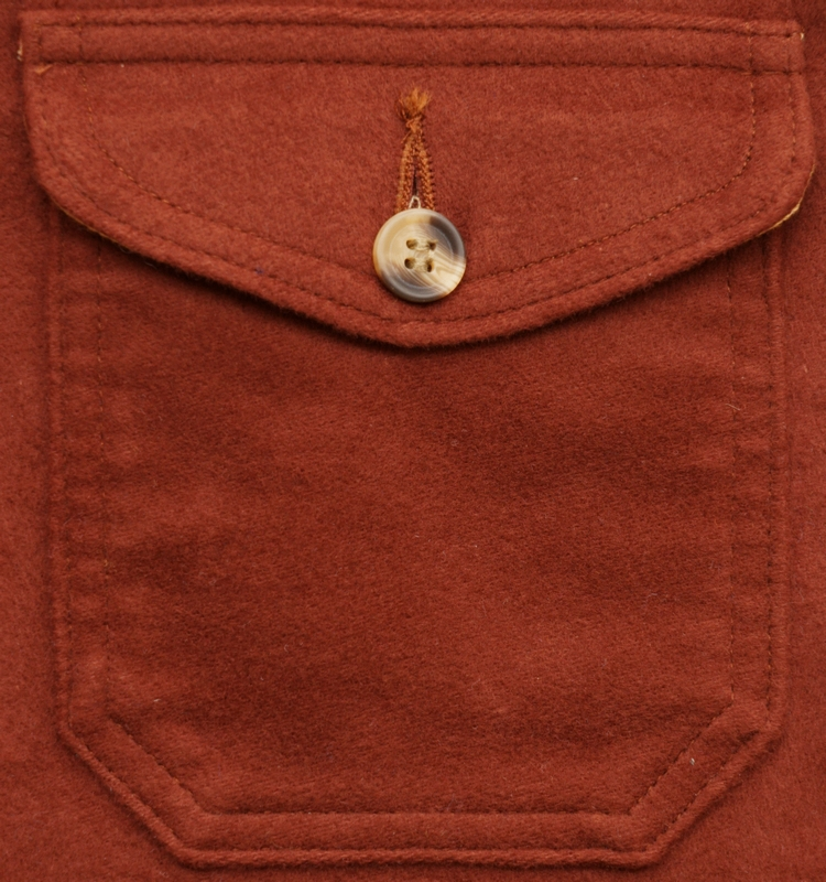 Dehen 1920(デーヘン) モールスキン オーバーシャツ エンジ メンズ Crissman Overshirt Tobbaco