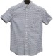 FAHERTY BRAND (ファリティ ブランド) 本藍染め フィッシュスケール 半袖 シャツ インディゴ メンズ