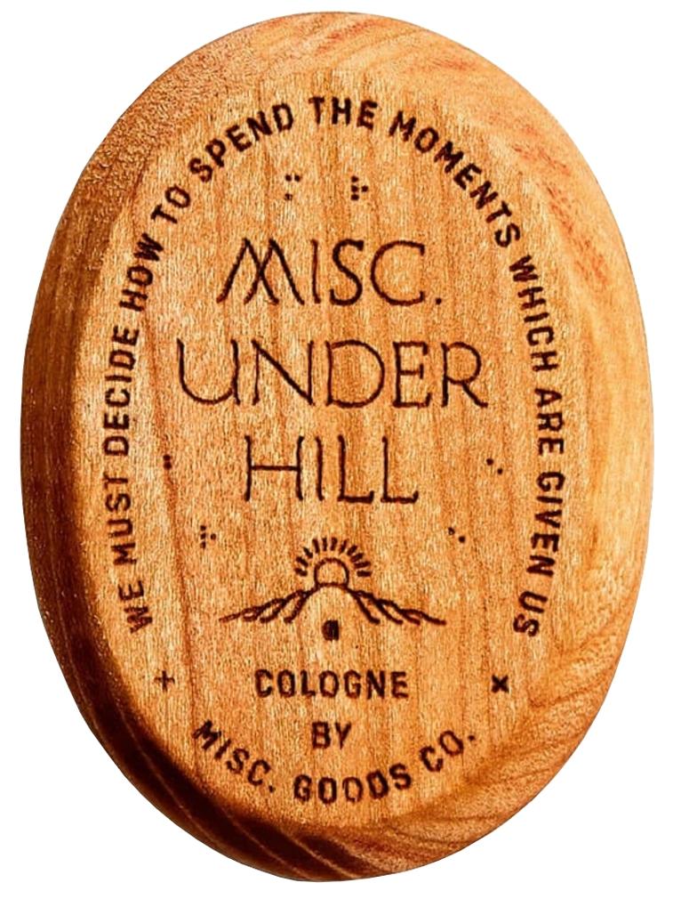 Misc. Goods Co. Underhill コロン Solid Cologne チェリーウッドケース 練り香水 アメリカ製 プレゼント ユニセックス メンズ レディース