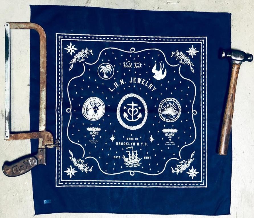 LHN Jewelry(エルエイチエヌ ジュエリー) 米国製 ノーティカル バンダナ メンズ レディース ユニセックス プレゼント Nautical Bandana