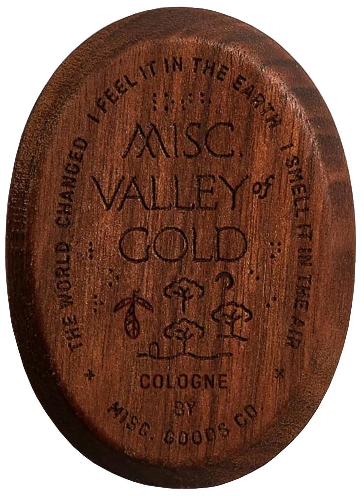 Misc. Goods Co. Valley of Gold コロン Solid Cologne ウォールナットケース 練り香水 アメリカ製 プレゼント ユニセックス メンズ レディース