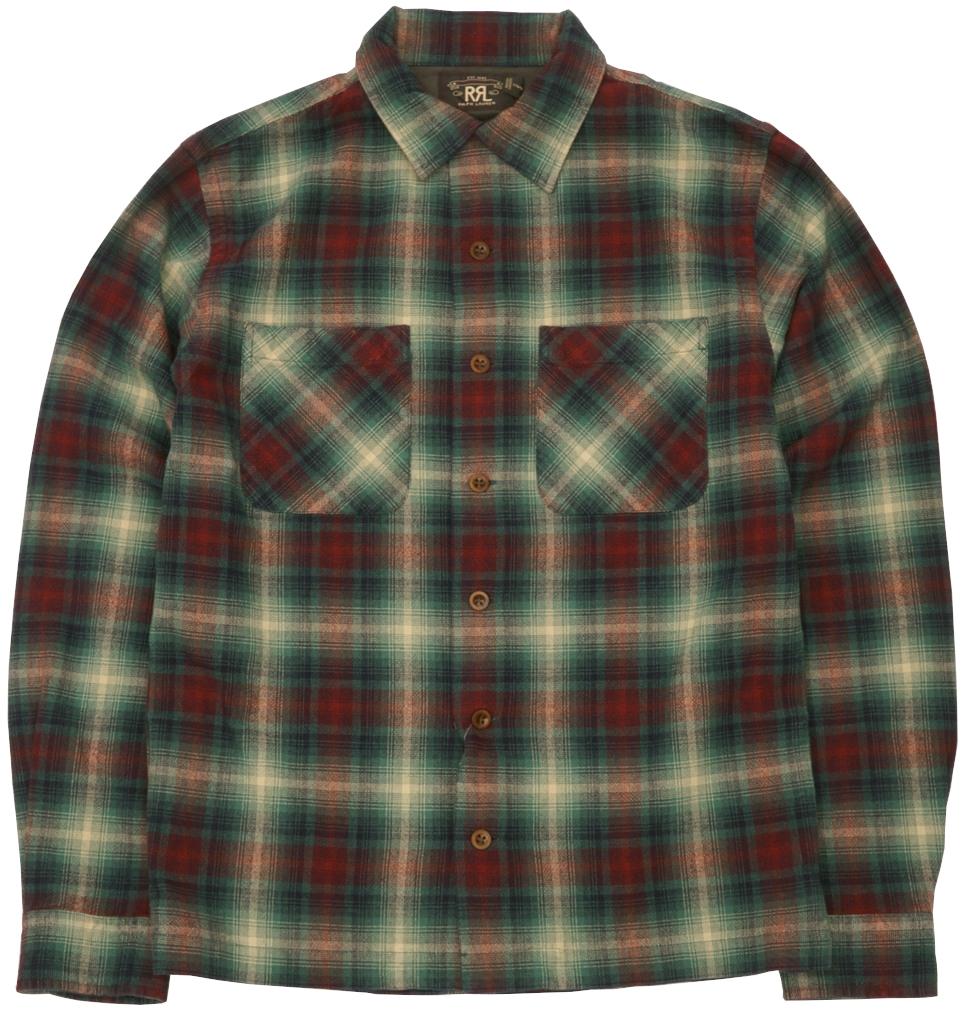 (ダブルアールエル) RRL タータン キャンプ シャツ チェック レッド メンズ Tartan Camp shirt Red