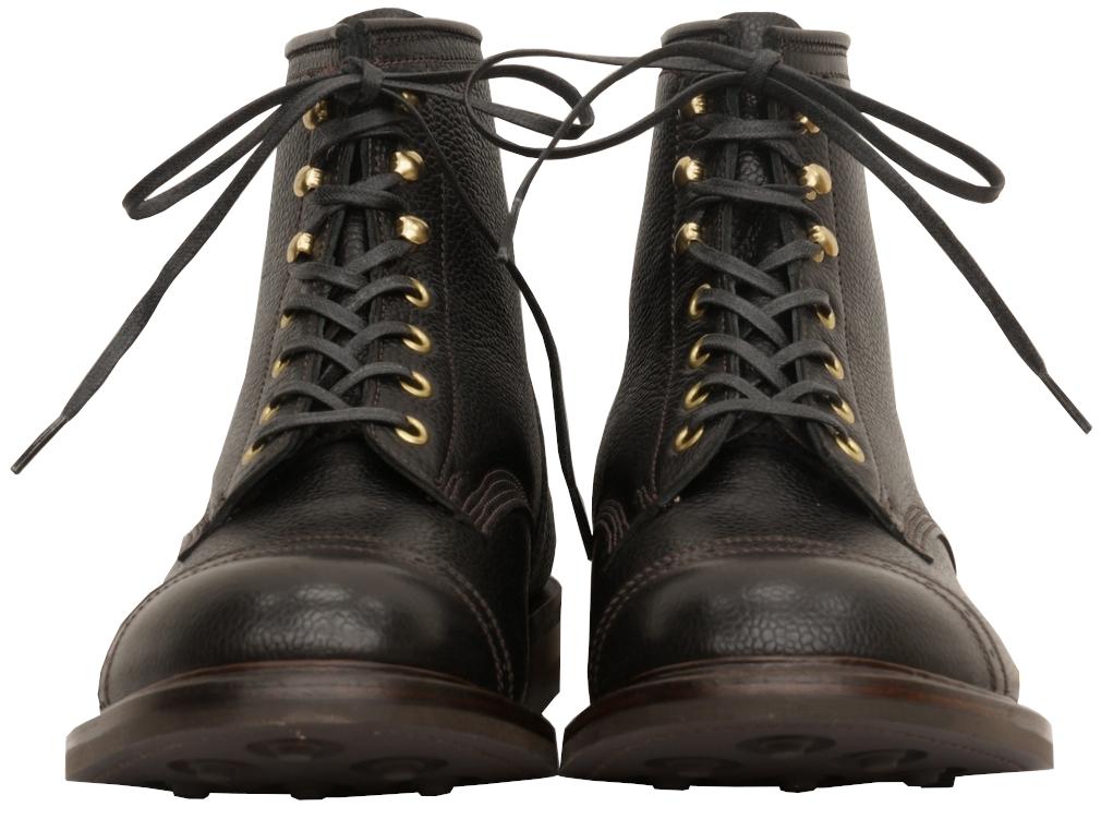 (ダブルアールエル) RRL 英国製 ハンドメイド BOWERY BOOTS バワリーブーツ ブラック フレンチフルグレインレザー