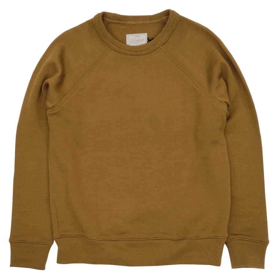 Dehen 1920(デーヘン) ラグラン クルーネック セーター ブラウン メンズ アメリカ製 Raglan Crew Neck Sweater Goldmine