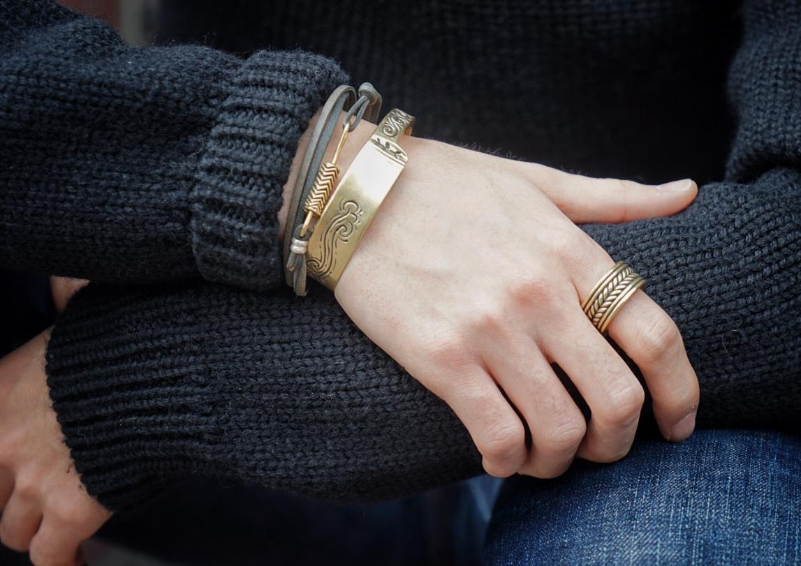 LHN Jewelry(エルエイチエヌ ジュエリー) ハンドメイド rope band リング 真鍮 アメリカ製 メンズ Brass ring