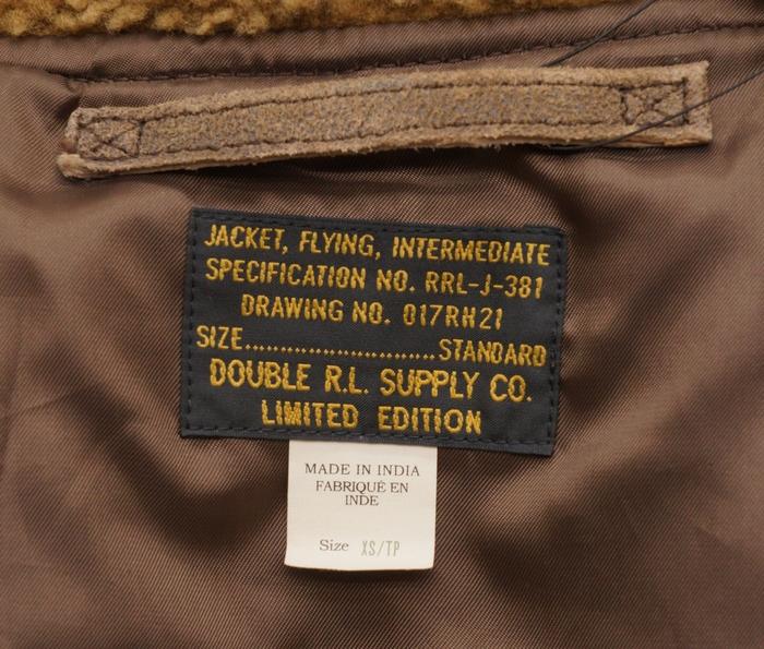 (ダブルアールエル) RRL 世界150着 限定 ゴート スウェード レザー ジャケット メンズ Limited Edition Leather Jacket