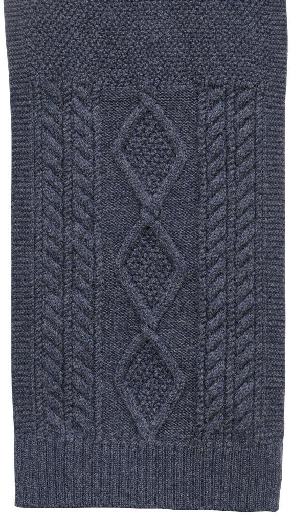 (ダブルアールエル) RRL メリノ ウール アラン編み マフラー スカーフ ネイビー Aran-Knit Scarf Navy