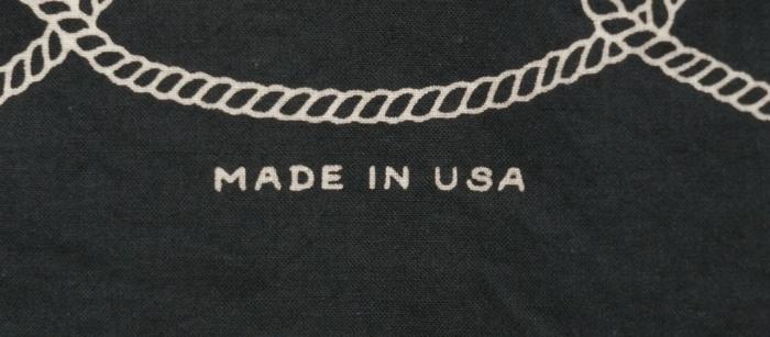 BLKSMTH (ブラックスミス) アメリカ製 タトゥーアート & ロゴ バンダナ ブラック メンズ レディース ユニセックス Bandana