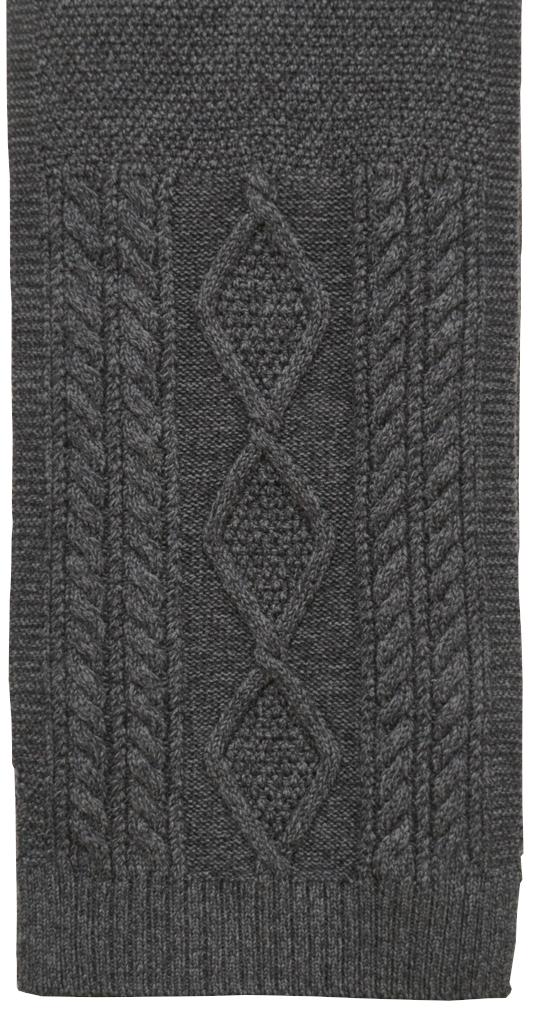 (ダブルアールエル) RRL メリノ ウール アラン編み マフラー スカーフ チャコール Aran-Knit Scarf Navy