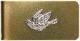 LHN Jewelry(エルエイチエヌ ジュエリー) ハンドメイド Swallow マネークリップ ブラス & シルバー