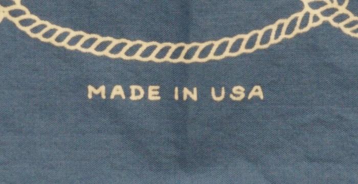 BLKSMTH (ブラックスミス) アメリカ製 タトゥーアート & ロゴ バンダナ ブルー メンズ レディース ユニセックス Bandana