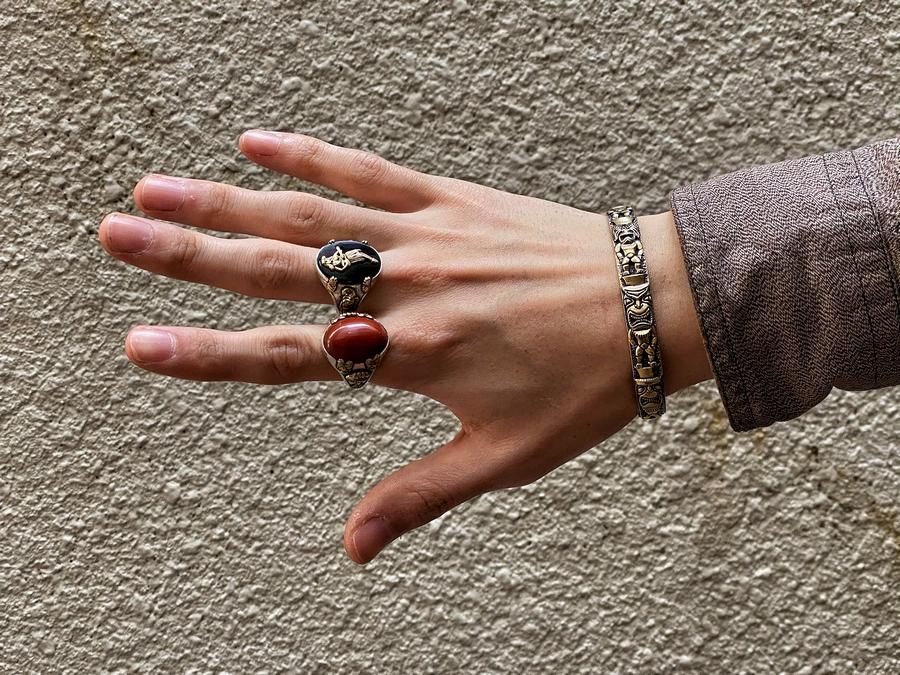 LHN Jewelry(エルエイチエヌ ジュエリー) 米国製 ハンドメイド Totem Pole Cuff バングル ブレスレット トーテムポール 真鍮製 メンズ ユニセックス Brass
