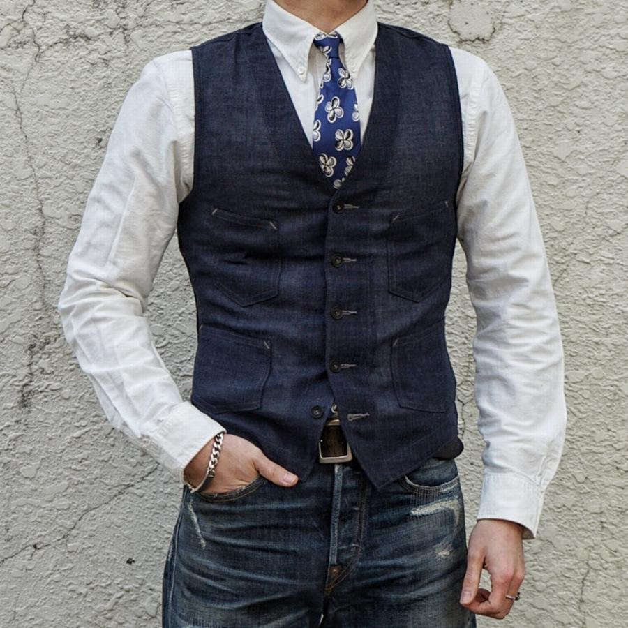 (ダブルアールエル) RRL ハンドメイド シルク 小花柄 ネクタイ イタリア製 ブルー Handmade Silk Tie