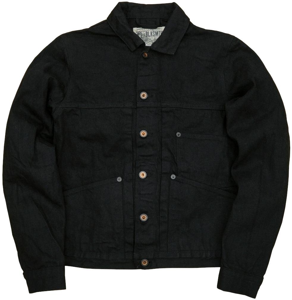 BLKSMTH (ブラックスミス) 米国製 Worker ブラックデニム ジャケット 日本製デニム地使用 メンズ