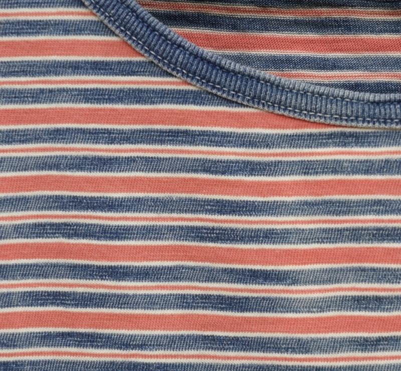 (ダブルアールエル) RRL 本藍染め インディゴ ストライプ ド コットン タンクトップ ボーダー メンズ Indigo Striped Cotton Tank