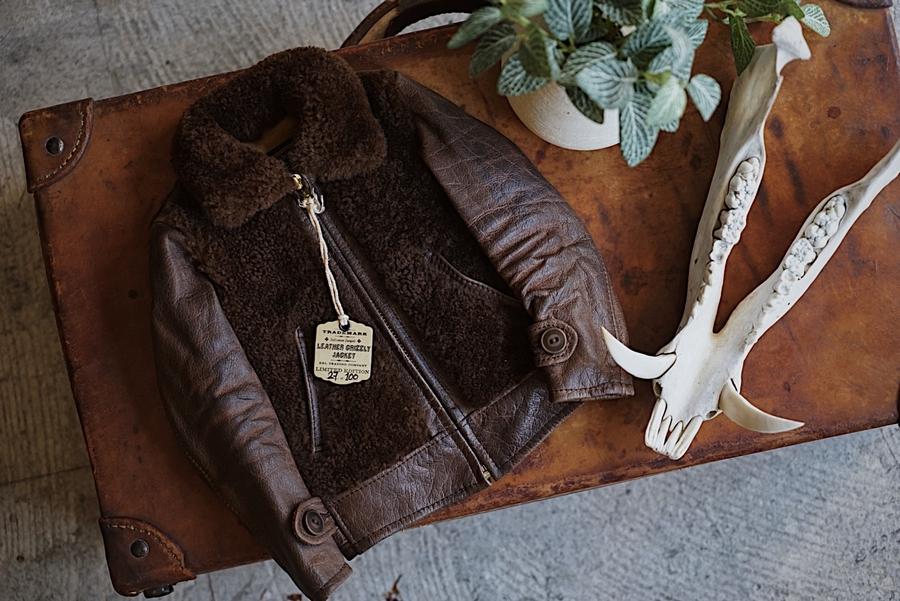 (ダブルアールエル) RRL 世界限定100着 リミテッドエディション ミニ レザー グリズリー ジャケット Limited Edition Mini Leather Jacket No.27